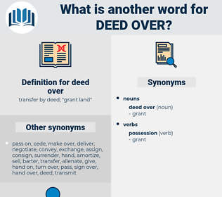 deed over, synonym deed over, another word for deed over, words like deed over, thesaurus deed over
