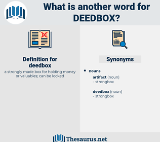 deedbox, synonym deedbox, another word for deedbox, words like deedbox, thesaurus deedbox