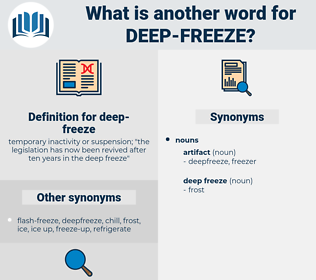 deep freeze, synonym deep freeze, another word for deep freeze, words like deep freeze, thesaurus deep freeze
