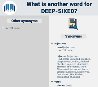 deep sixed, synonym deep sixed, another word for deep sixed, words like deep sixed, thesaurus deep sixed