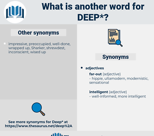 deep, synonym deep, another word for deep, words like deep, thesaurus deep