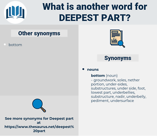 deepest part, synonym deepest part, another word for deepest part, words like deepest part, thesaurus deepest part