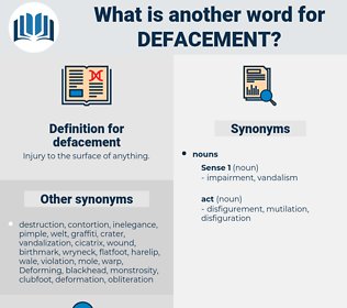 defacement, synonym defacement, another word for defacement, words like defacement, thesaurus defacement