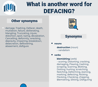 Defacing, synonym Defacing, another word for Defacing, words like Defacing, thesaurus Defacing