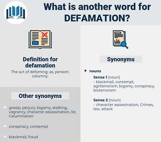 defamation, synonym defamation, another word for defamation, words like defamation, thesaurus defamation