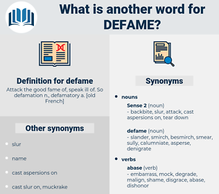 defame, synonym defame, another word for defame, words like defame, thesaurus defame