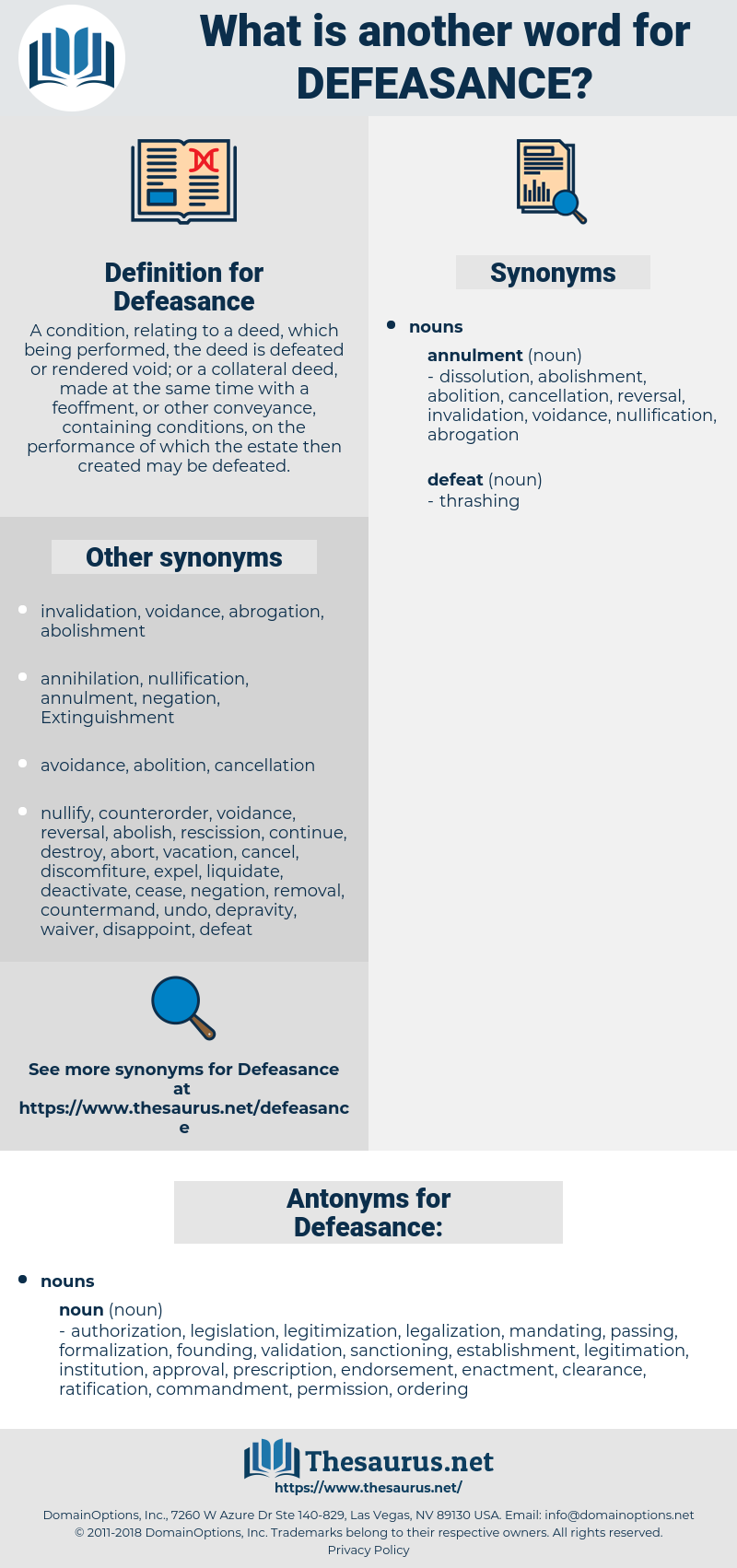 Defeasance, synonym Defeasance, another word for Defeasance, words like Defeasance, thesaurus Defeasance
