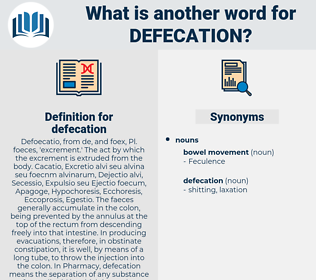 defecation, synonym defecation, another word for defecation, words like defecation, thesaurus defecation