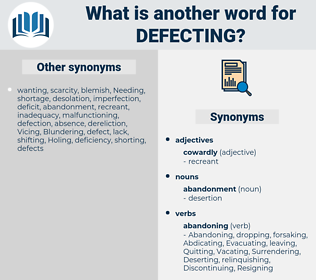 defecting, synonym defecting, another word for defecting, words like defecting, thesaurus defecting