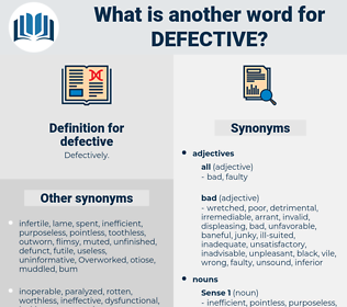 defective, synonym defective, another word for defective, words like defective, thesaurus defective