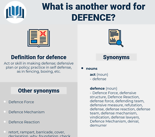 defence, synonym defence, another word for defence, words like defence, thesaurus defence
