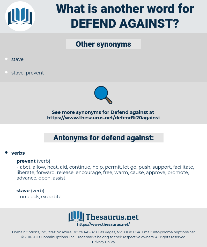 defend against, synonym defend against, another word for defend against, words like defend against, thesaurus defend against