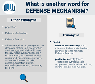 Synonyms For Defense Mechanism Thesaurus Net