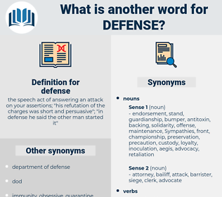 defense, synonym defense, another word for defense, words like defense, thesaurus defense