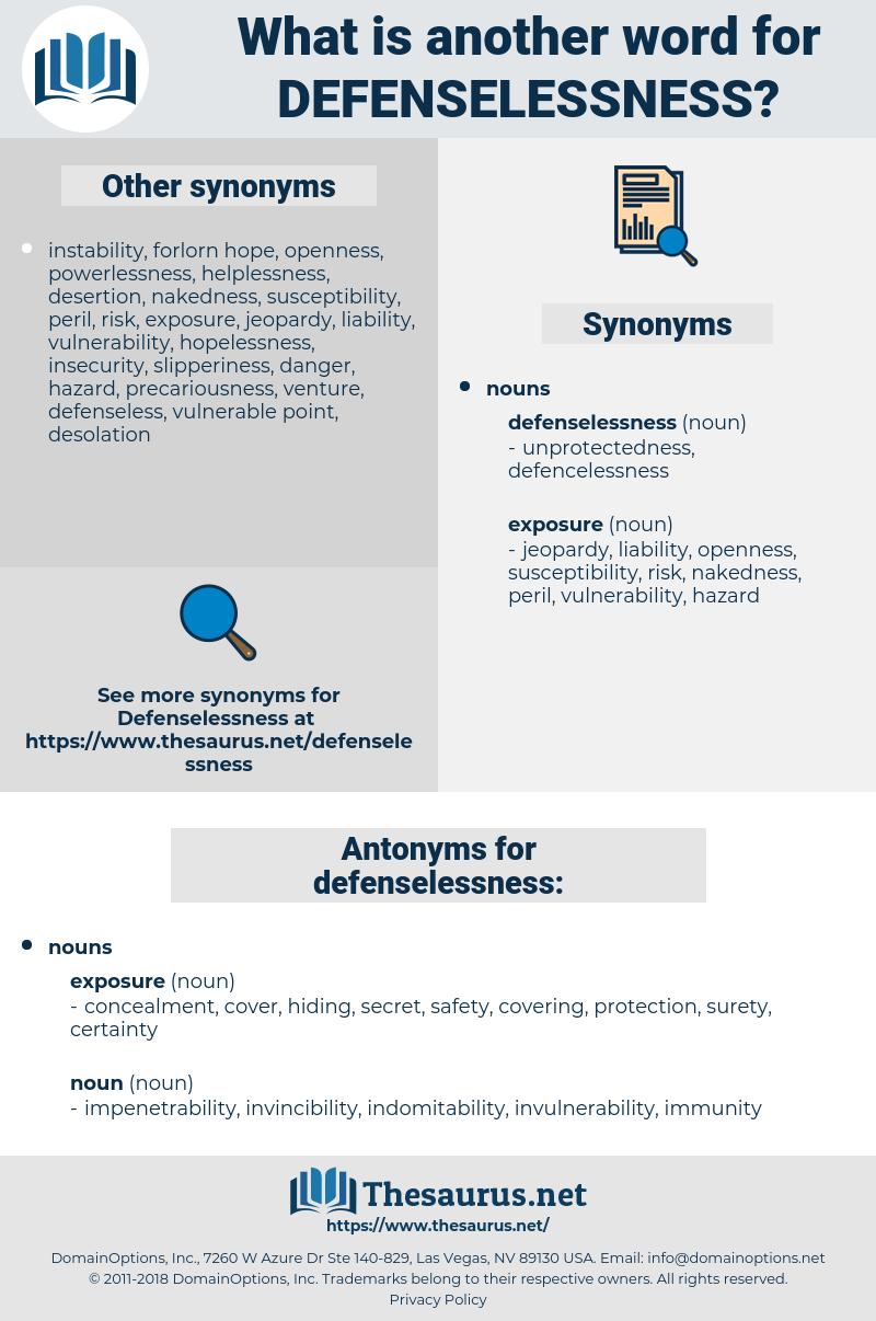 defenselessness, synonym defenselessness, another word for defenselessness, words like defenselessness, thesaurus defenselessness