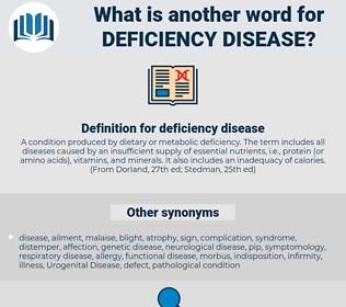 deficiency disease, synonym deficiency disease, another word for deficiency disease, words like deficiency disease, thesaurus deficiency disease