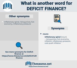 deficit finance, synonym deficit finance, another word for deficit finance, words like deficit finance, thesaurus deficit finance