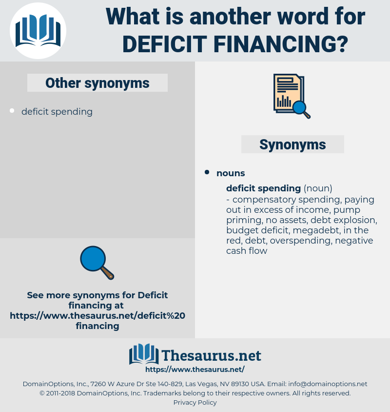 deficit financing, synonym deficit financing, another word for deficit financing, words like deficit financing, thesaurus deficit financing