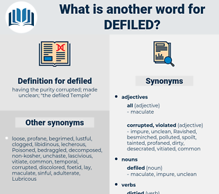 defiled, synonym defiled, another word for defiled, words like defiled, thesaurus defiled