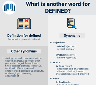 defined, synonym defined, another word for defined, words like defined, thesaurus defined