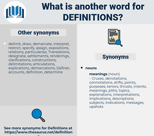 definitions, synonym definitions, another word for definitions, words like definitions, thesaurus definitions