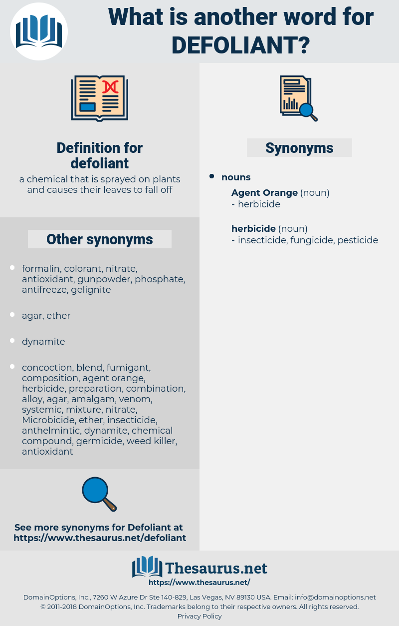 defoliant, synonym defoliant, another word for defoliant, words like defoliant, thesaurus defoliant