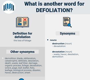 defoliation, synonym defoliation, another word for defoliation, words like defoliation, thesaurus defoliation