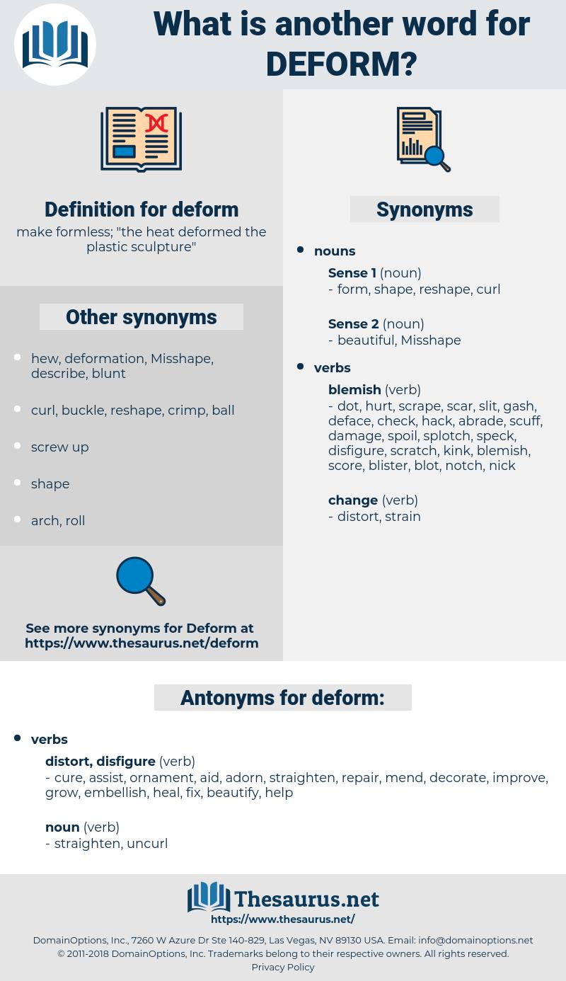 deform, synonym deform, another word for deform, words like deform, thesaurus deform