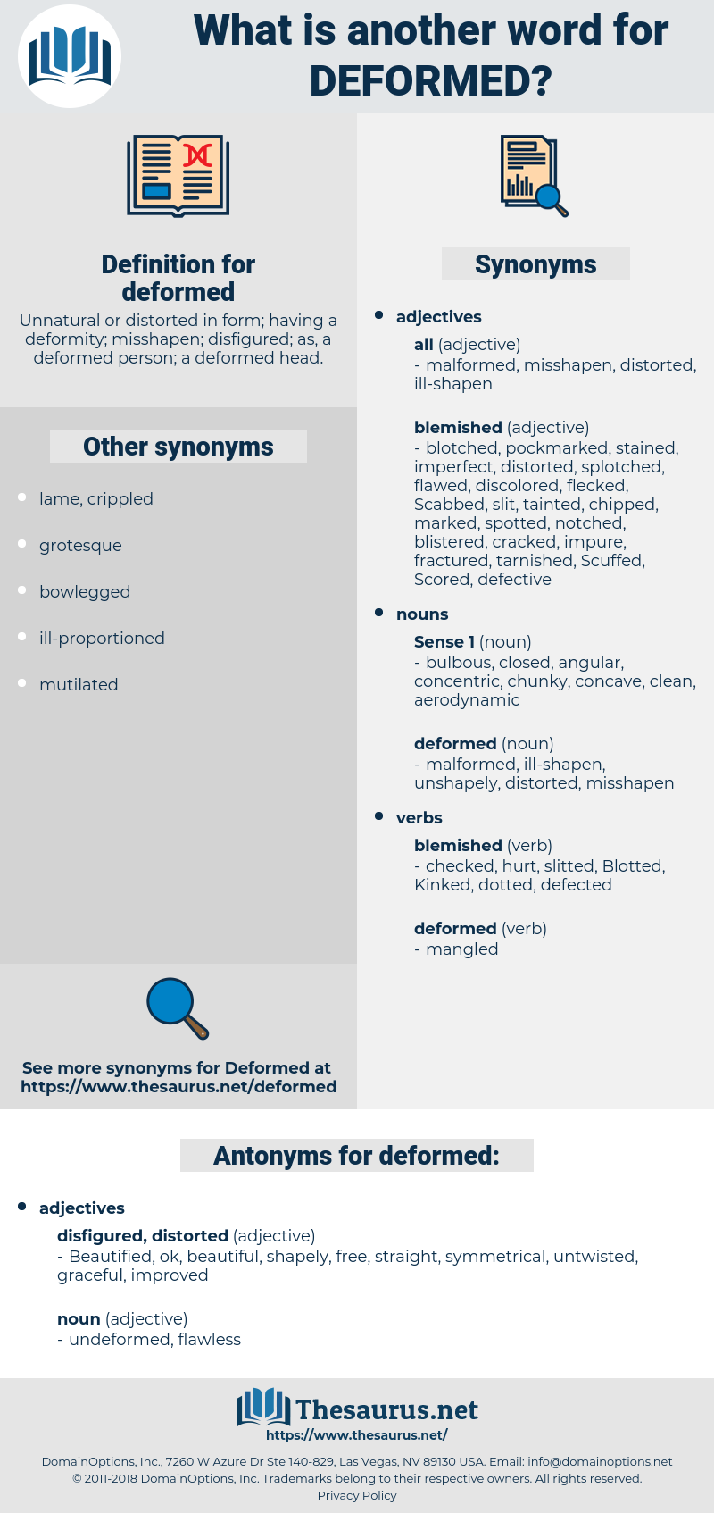 deformed, synonym deformed, another word for deformed, words like deformed, thesaurus deformed