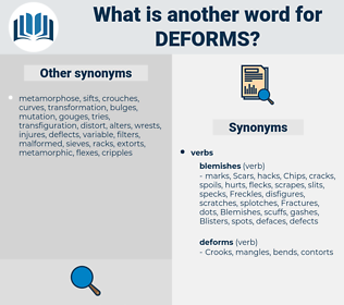 deforms, synonym deforms, another word for deforms, words like deforms, thesaurus deforms