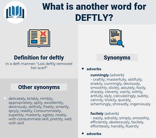 deftly, synonym deftly, another word for deftly, words like deftly, thesaurus deftly