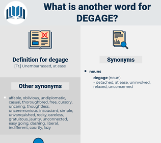 degage, synonym degage, another word for degage, words like degage, thesaurus degage