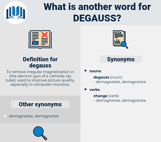 degauss, synonym degauss, another word for degauss, words like degauss, thesaurus degauss