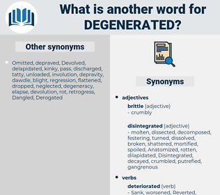 Degenerated, synonym Degenerated, another word for Degenerated, words like Degenerated, thesaurus Degenerated