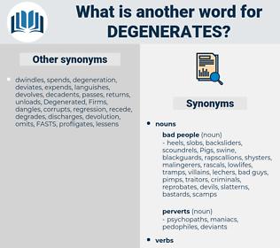 degenerates, synonym degenerates, another word for degenerates, words like degenerates, thesaurus degenerates