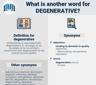 degenerative, synonym degenerative, another word for degenerative, words like degenerative, thesaurus degenerative