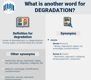 degradation, synonym degradation, another word for degradation, words like degradation, thesaurus degradation