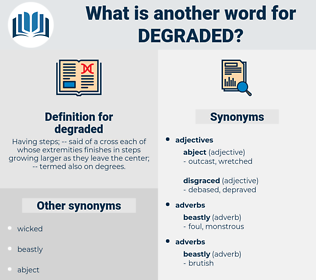 degraded, synonym degraded, another word for degraded, words like degraded, thesaurus degraded