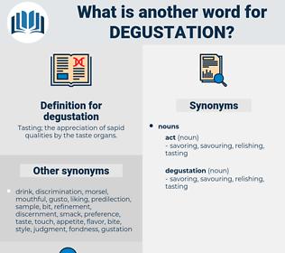 degustation, synonym degustation, another word for degustation, words like degustation, thesaurus degustation