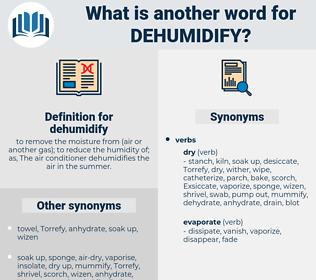 dehumidify, synonym dehumidify, another word for dehumidify, words like dehumidify, thesaurus dehumidify