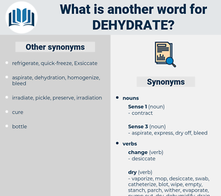 dehydrate, synonym dehydrate, another word for dehydrate, words like dehydrate, thesaurus dehydrate