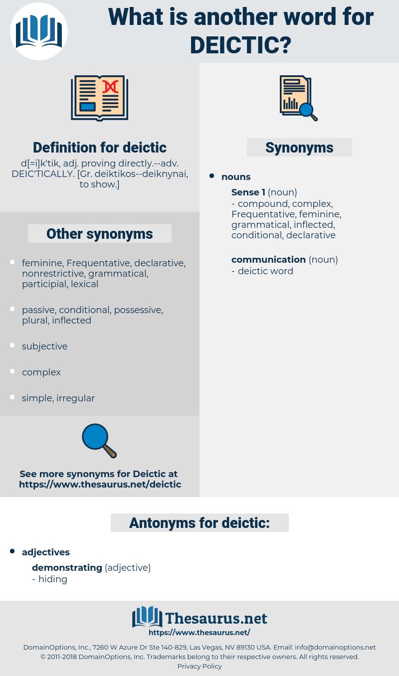 deictic, synonym deictic, another word for deictic, words like deictic, thesaurus deictic