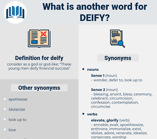 deify, synonym deify, another word for deify, words like deify, thesaurus deify