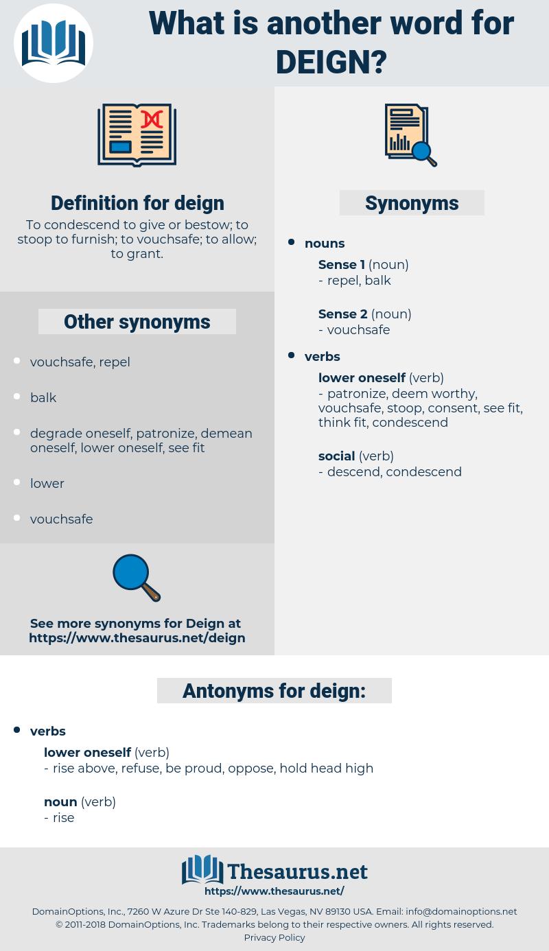 deign, synonym deign, another word for deign, words like deign, thesaurus deign