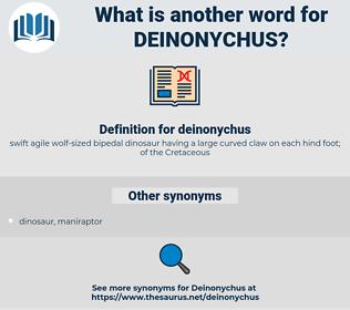 deinonychus, synonym deinonychus, another word for deinonychus, words like deinonychus, thesaurus deinonychus