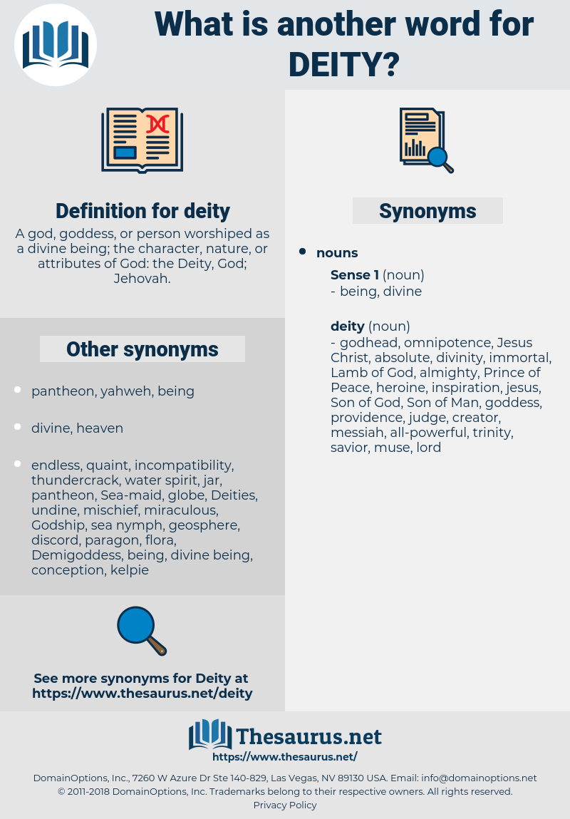 deity, synonym deity, another word for deity, words like deity, thesaurus deity