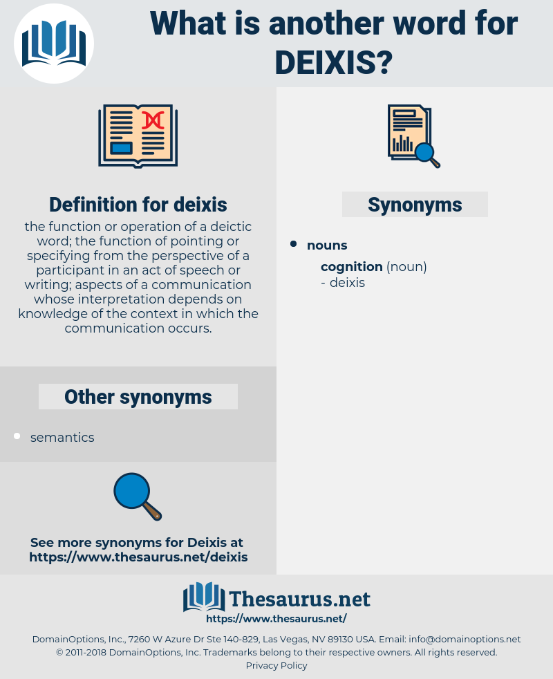 deixis, synonym deixis, another word for deixis, words like deixis, thesaurus deixis