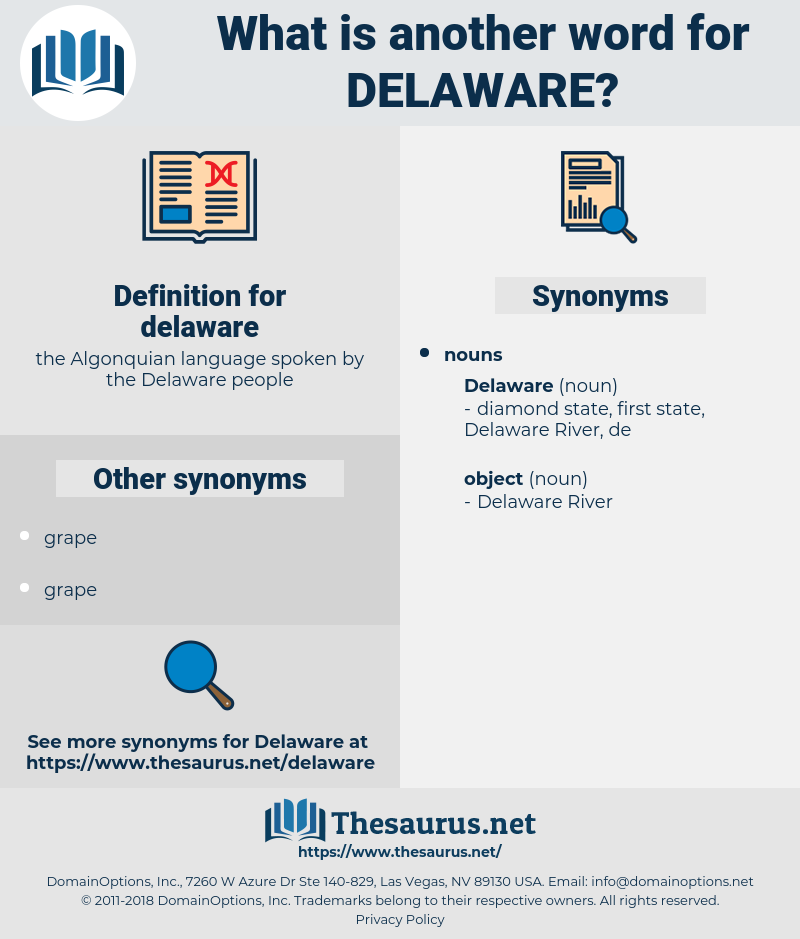 delaware, synonym delaware, another word for delaware, words like delaware, thesaurus delaware
