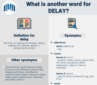 delay, synonym delay, another word for delay, words like delay, thesaurus delay