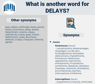 Delays, synonym Delays, another word for Delays, words like Delays, thesaurus Delays